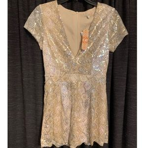 ✨Gianni Bini Sequin ROMPER ✨